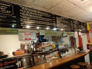Go to Boston Hot Dog Company for a pretty good bargain (Photo: Nance Carter)