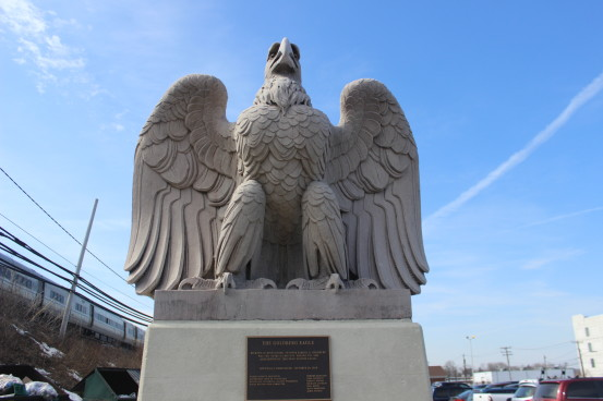Find the geocache hidden near this eagle from the original Penn Station, and then tell me where it is because I can't find it!