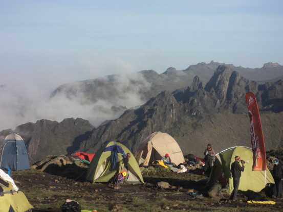 Tents, Mount Kilimanjaro (Photo: Nick Carter)