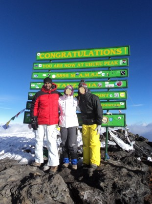 Congratulations!  You are now at Uhuru Peak.