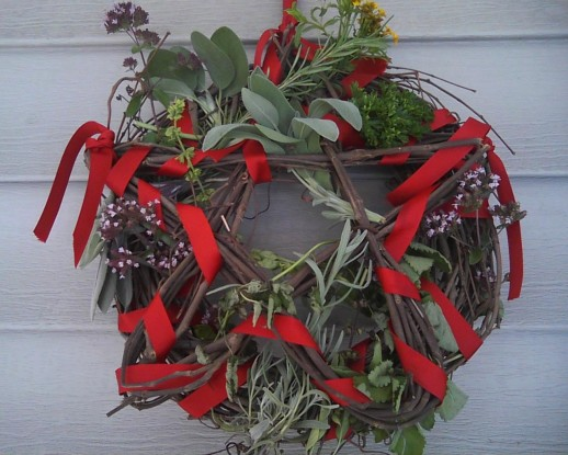Make a pentacle wreath for Lammas
