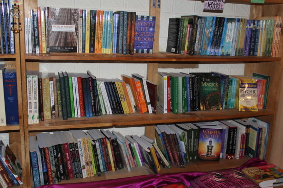 Part of the selection of books at Enchantments (Photo: Nance Carter)