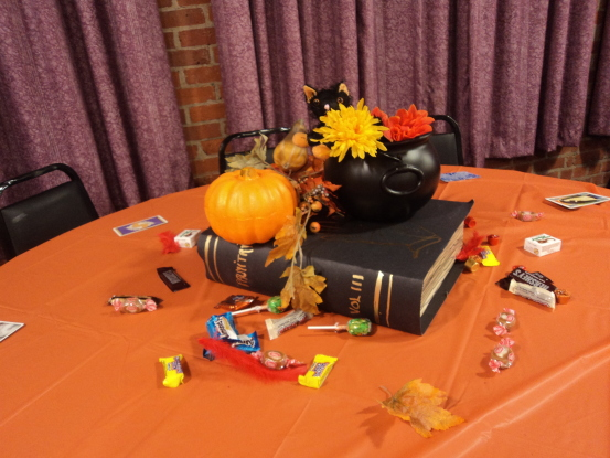 Table decoration at Witches' Ball (Photo: Nance Carter)