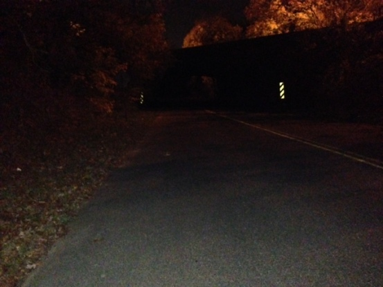 Sweet Hollow Road at night (Photo: Nance Carter)
