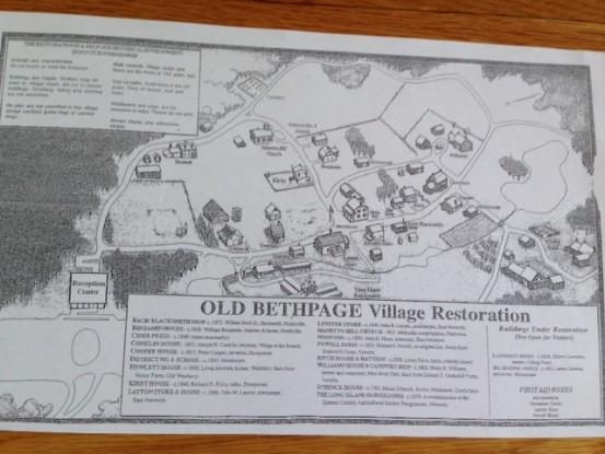 Old Bethpage Village Restoration map