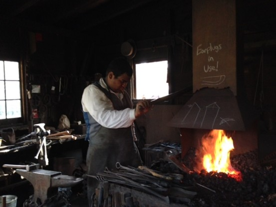 Blacksmith at work, Old Bethpage Village Restoration (Photo: Nance Carter)