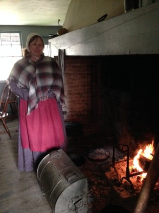 Docent Joanne at the Williams House, Old Bethpage Village Restoration (Photo: Nance Carter)