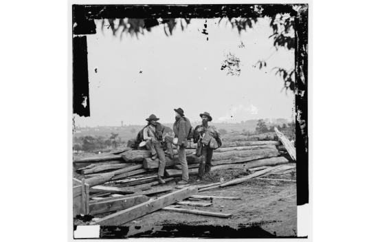 3 Confederate prisoners, Gettysburg (Library of Congress)