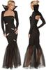 black evil witch cosplay dress