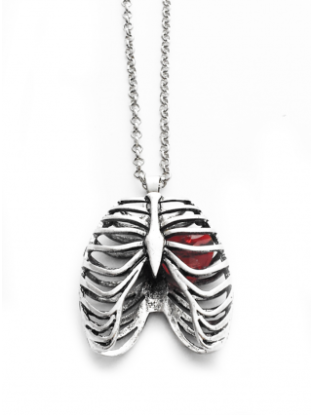 Ribcage necklace with heart from inkedshop.com $31.96