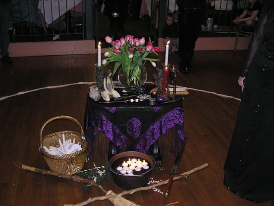 """The Imbolc Ritual Altar"" by Rebecca Radcliff - originally posted to Flickr as The Imbolc Ritual Altar. Licensed under CC BY-SA 2.0 via Wikimedia Commons - https://commons.wikimedia.org/wiki/File:The_Imbolc_Ritual_Altar.jpg#/media/File:The_Imbolc_Ritual_Altar.jpg"