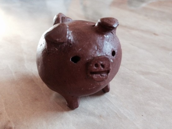Chanchito, lucky pig sculpture from Chile (Photo: Nance Carter)